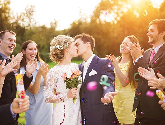 Sommerliche Hochzeit