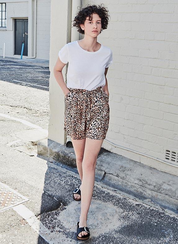 Animal-Print Shorts
