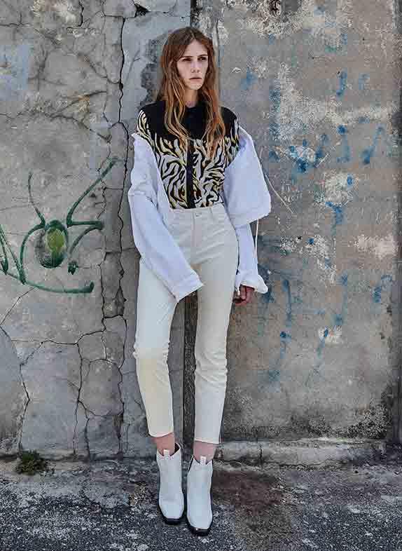 Weiße Jeansjacken