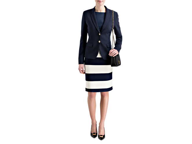 Business Casual - Marine statt Schwarz Outfit