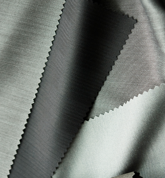 Eigenschaften und Pflege von Polyester -Close-up von Polyester Stoffen