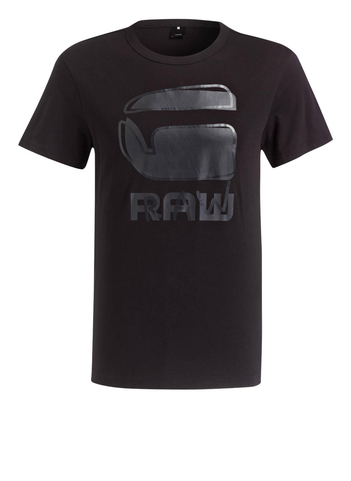 g star raw t shirt razzarro mit monochromem print schwarz. Black Bedroom Furniture Sets. Home Design Ideas