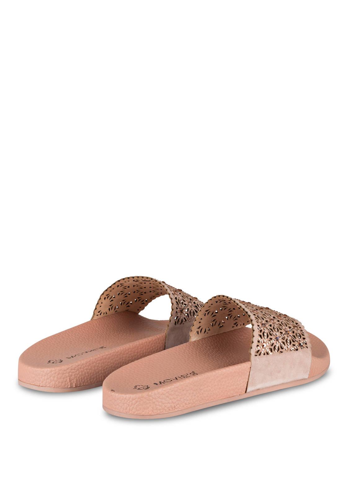 movie s sandalen mit schmucksteinbesatz rosa g nstig. Black Bedroom Furniture Sets. Home Design Ideas