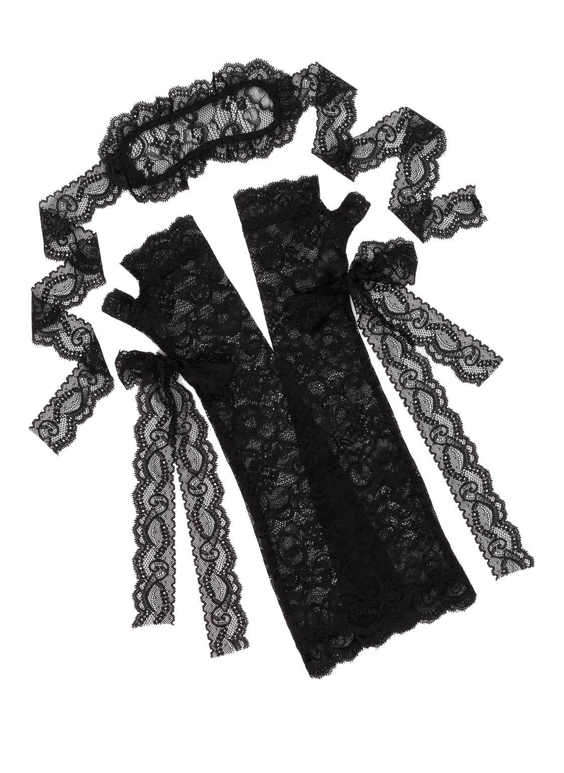 Image of Aubade Handschuhe Und Maske Boîte À Désir schwarz