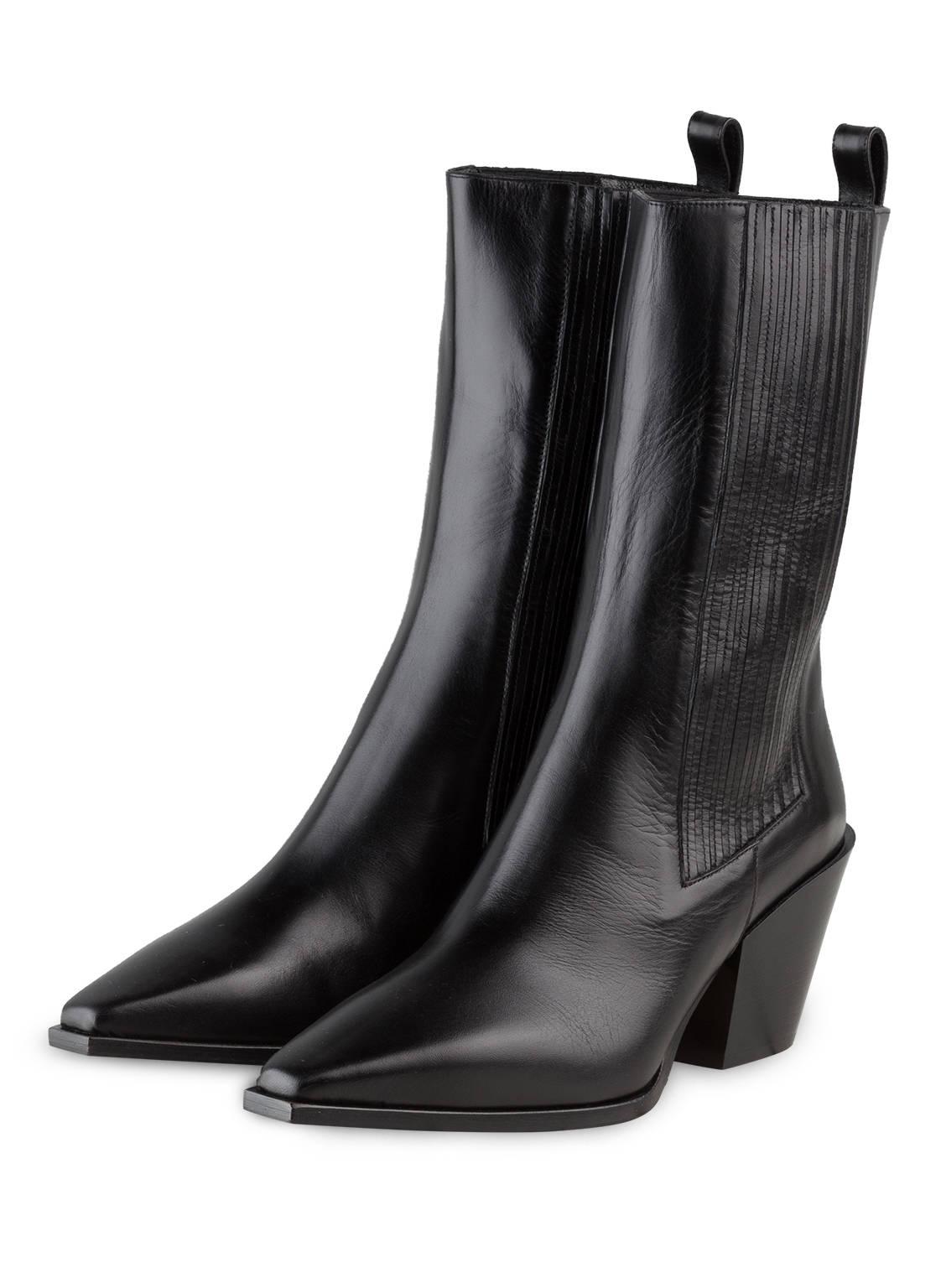 Image of Aeyde Cowboy Boots Ari schwarz
