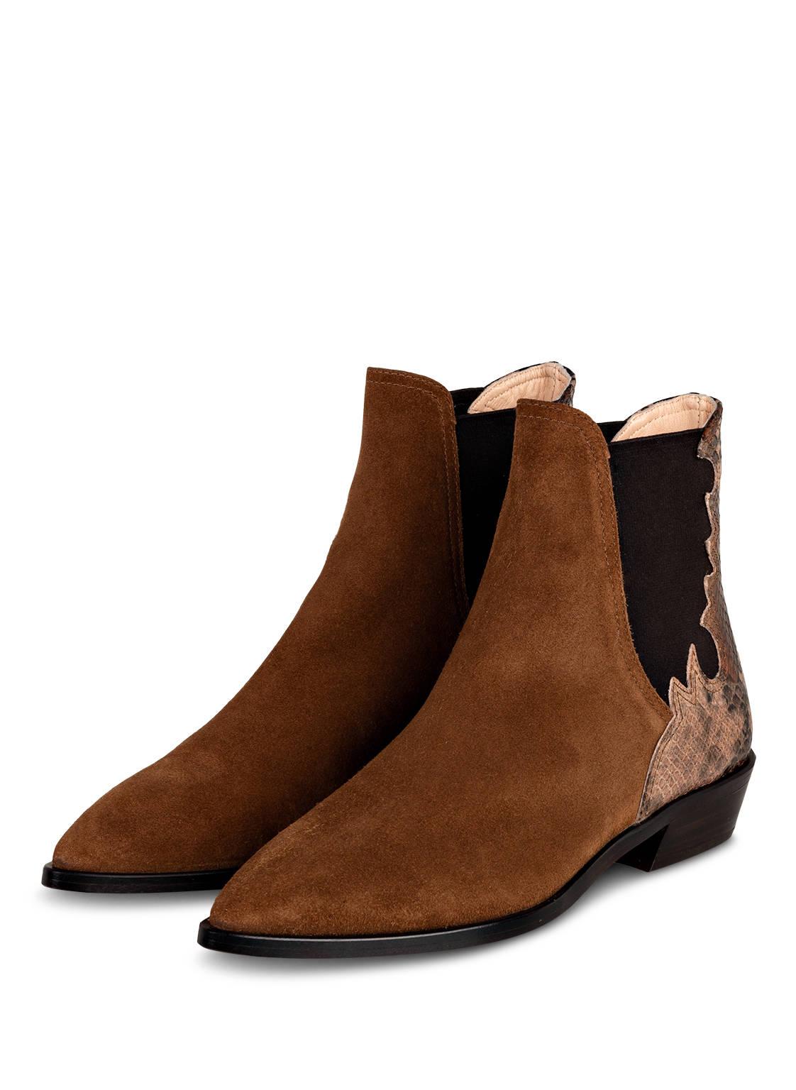 Image of Agl Attilio Giusti Leombruni Chelsea-Boots braun