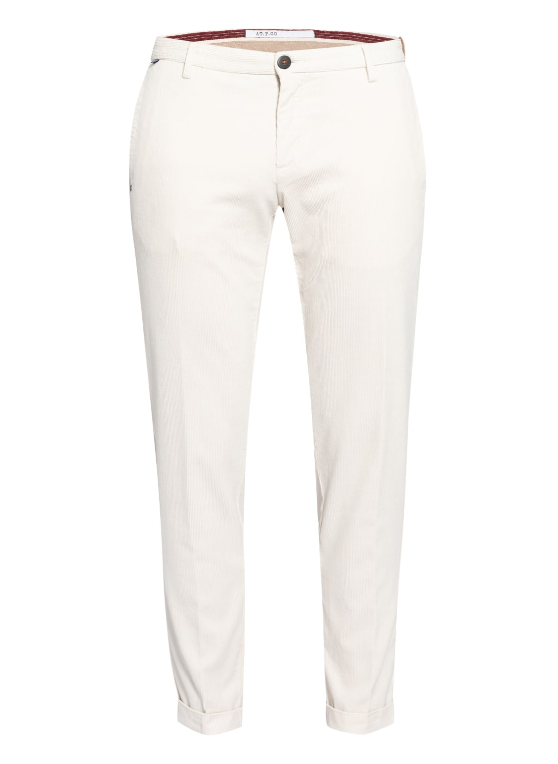 Image of At.P.Co Cordhose Scott Extra Slim Fit weiss