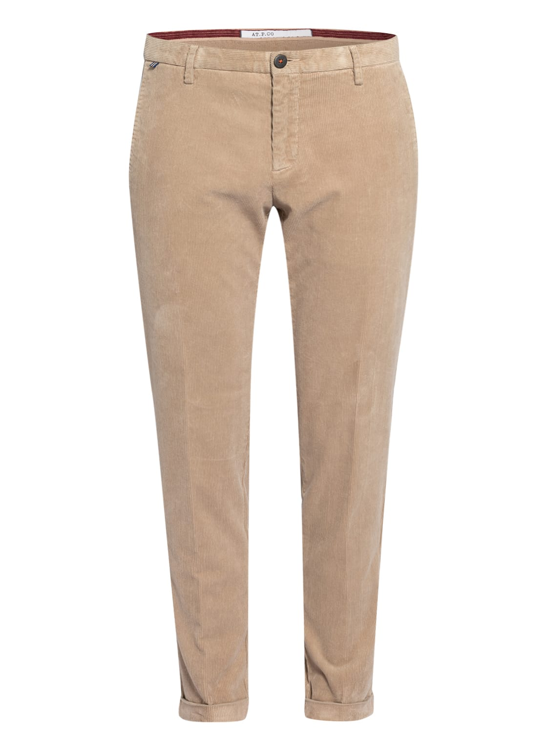 Image of At.P.Co Cordhose Scott Extra Slim Fit beige