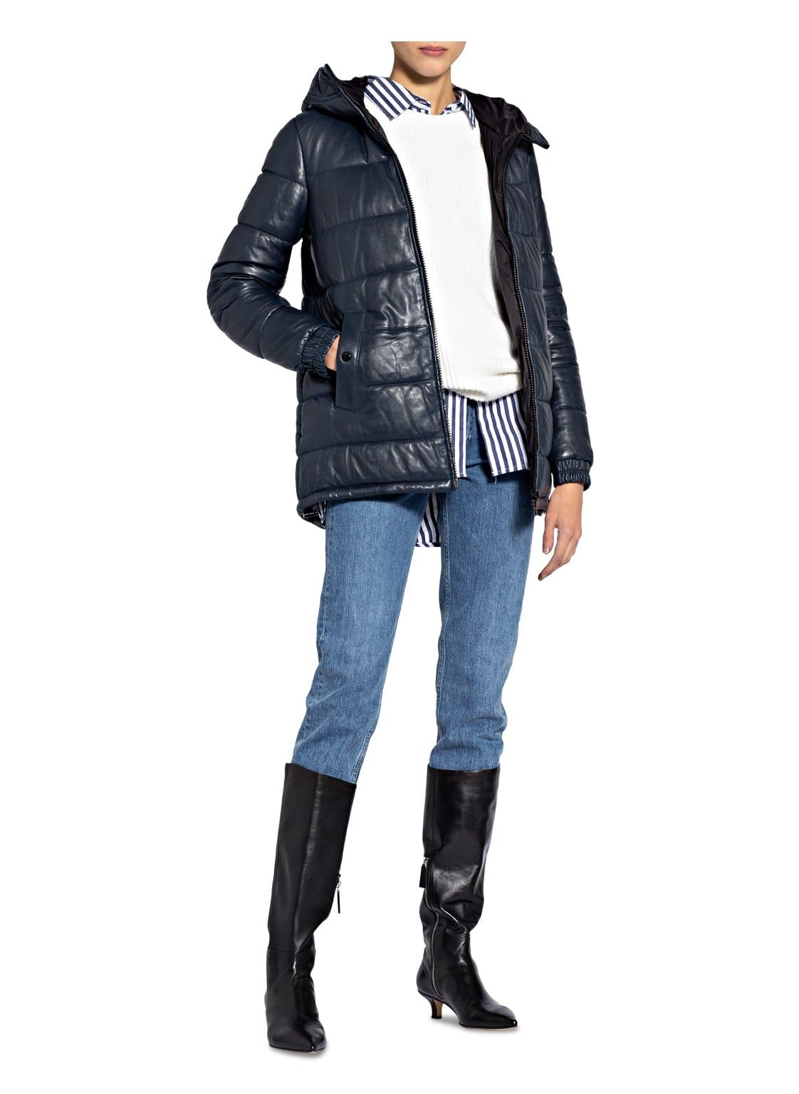 Damen Jacken Steppjacke DUCA aus Leder von MILESTONE