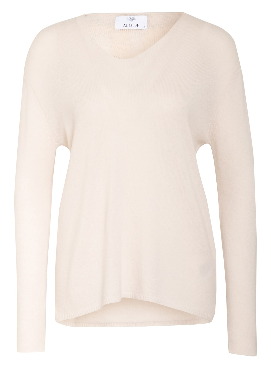 Image of Allude Cashmere-Pullover weiss