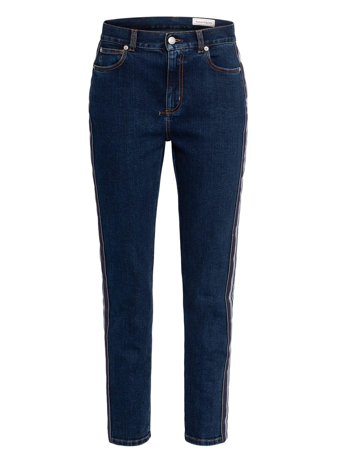 Image of Alexander Mcqueen 7/8-Jeans Mit Galonstreifen blau