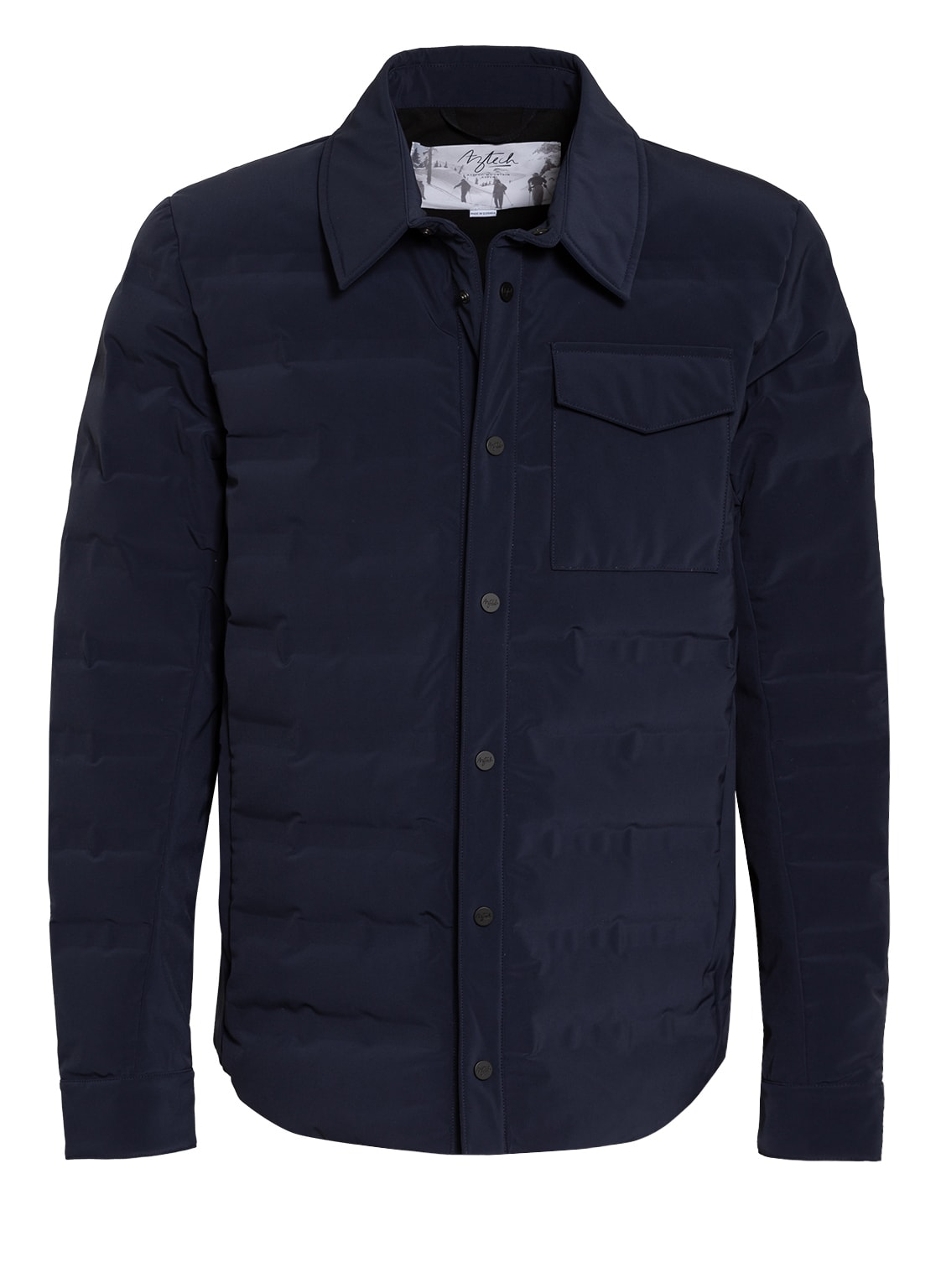 Image of Aztech Mountain Daunen-Overshirt Nuke Shirt blau