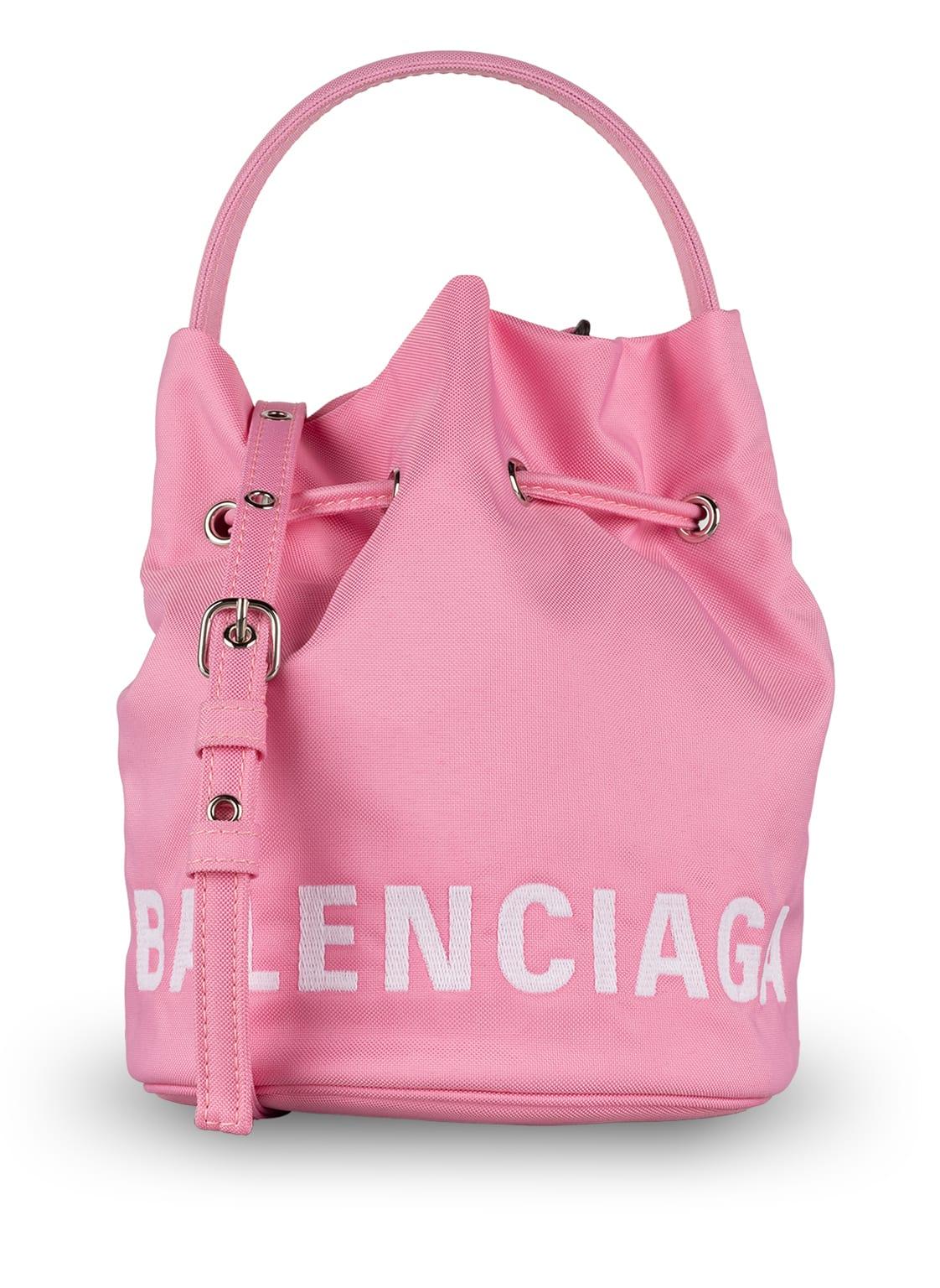 Image of Balenciaga Beuteltasche Wheel Xs pink