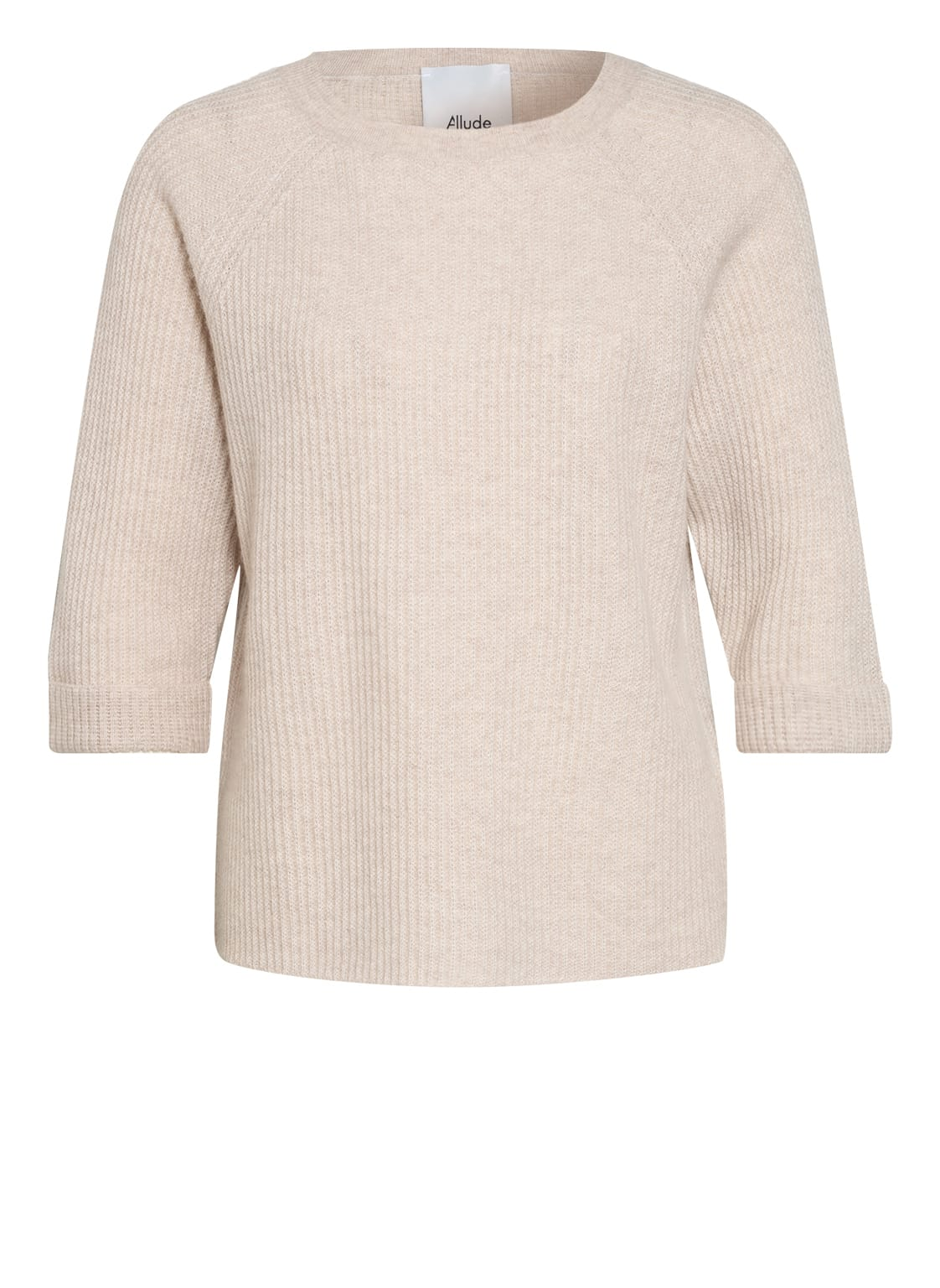 Image of Allude Cashmere-Pullover Mit 3/4-Arm beige