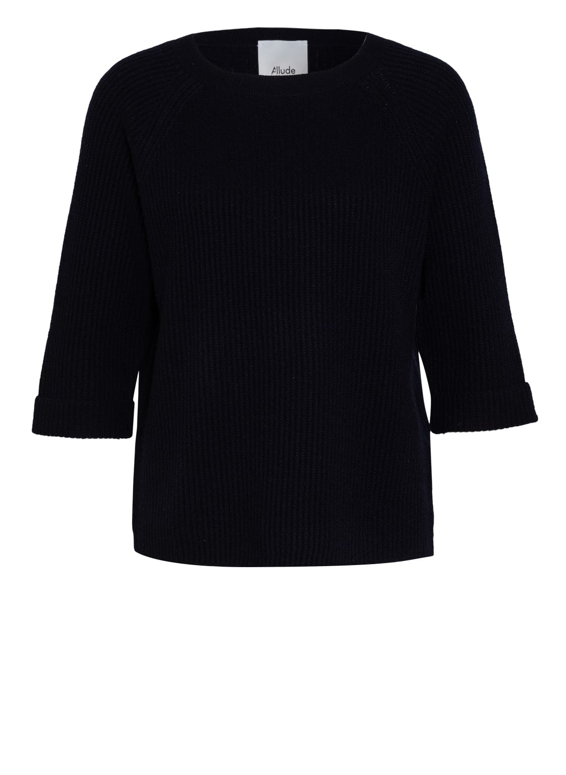 Image of Allude Cashmere-Pullover Mit 3/4-Arm blau