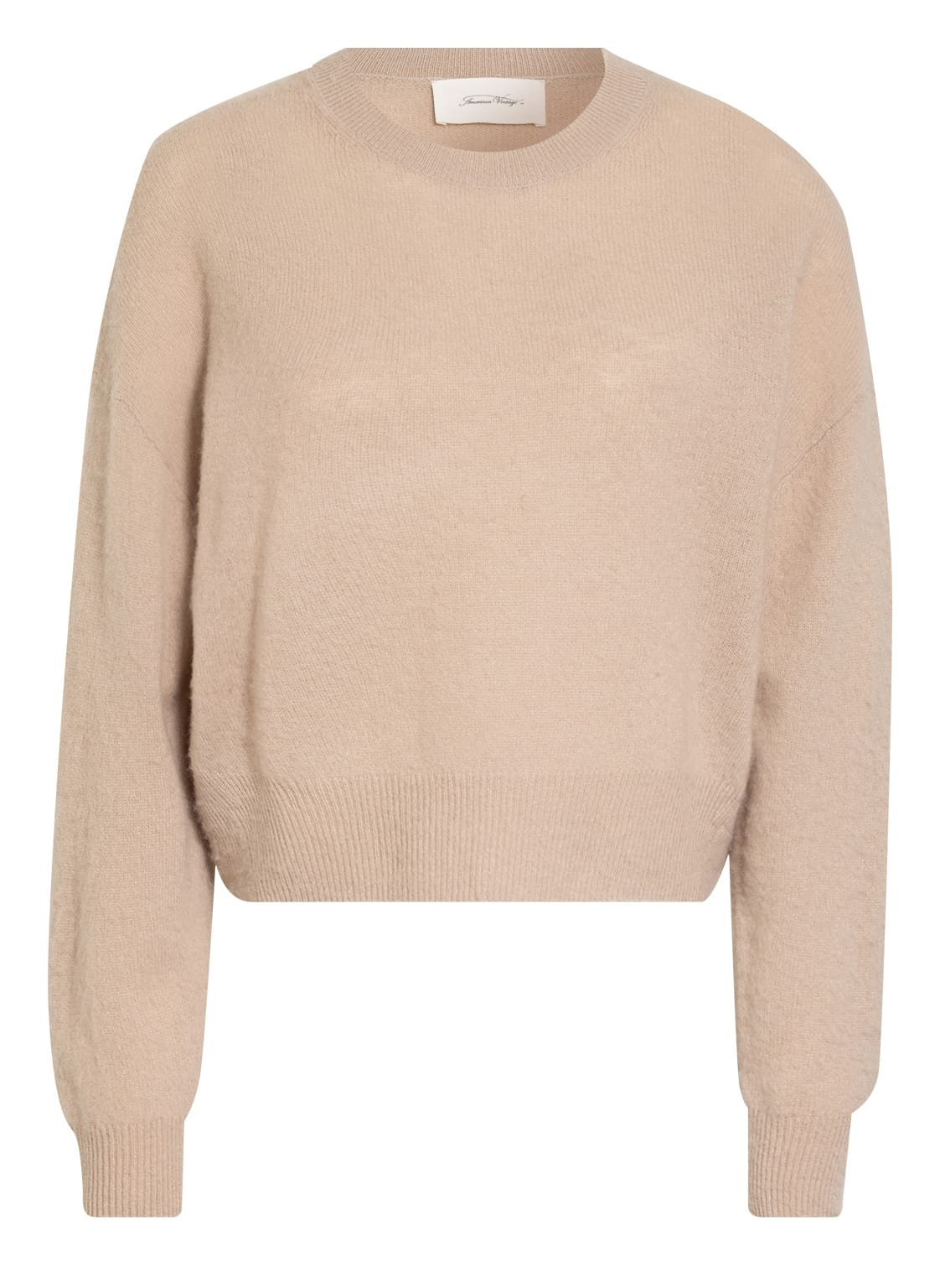 Image of American Vintage Cashmere-Pullover beige