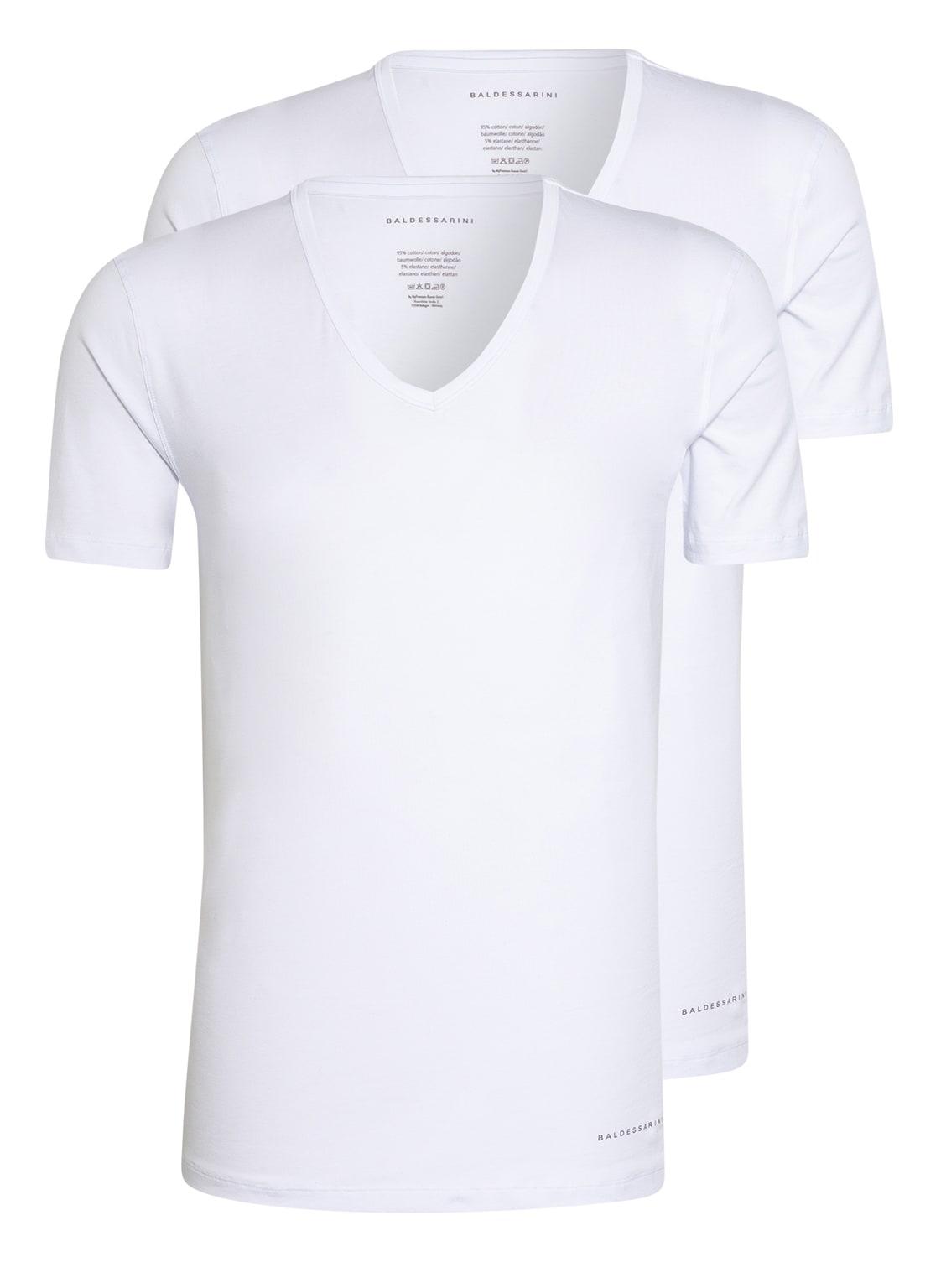 Image of Baldessarini 2er-Pack V-Shirts weiss