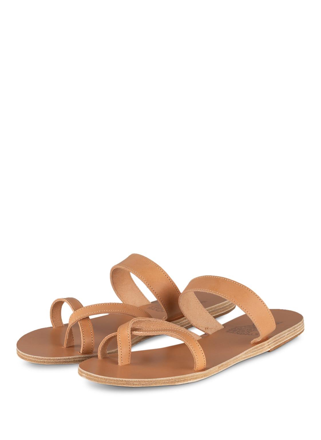Image of Ancient Greek Sandals Zehentrenner Daphnae braun