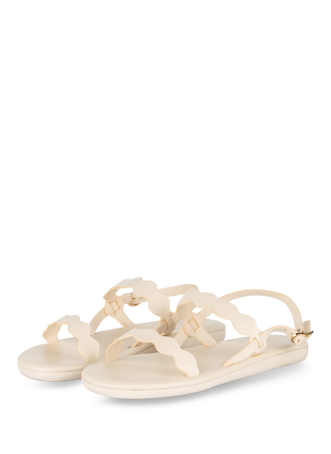 Image of Ancient Greek Sandals Sandalen Afros weiss