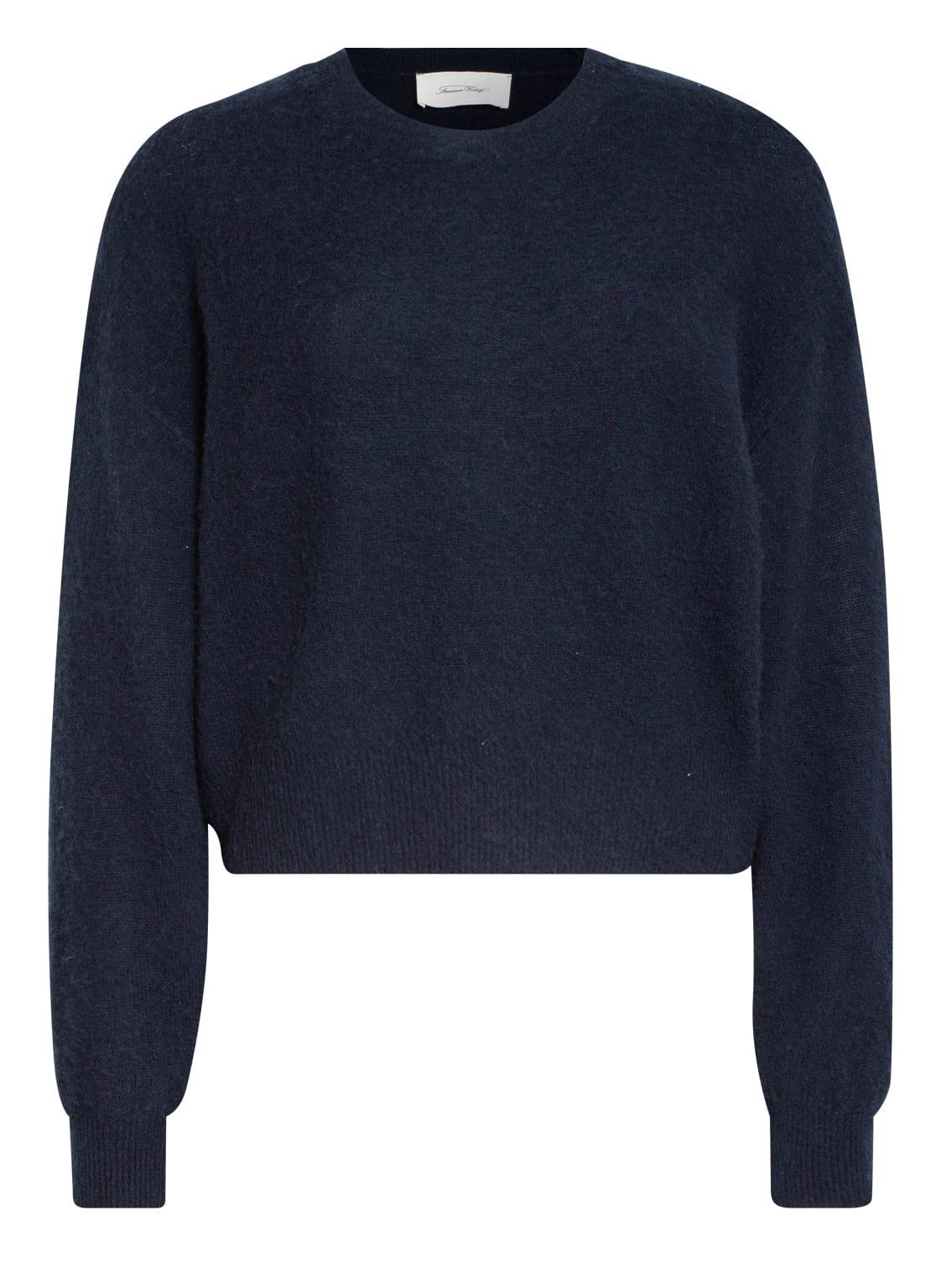 Image of American Vintage Cashmere-Pullover schwarz