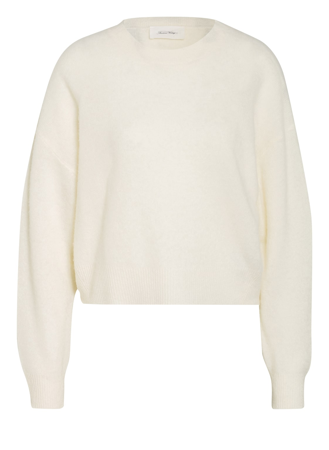 Image of American Vintage Cashmere-Pullover Koptown weiss