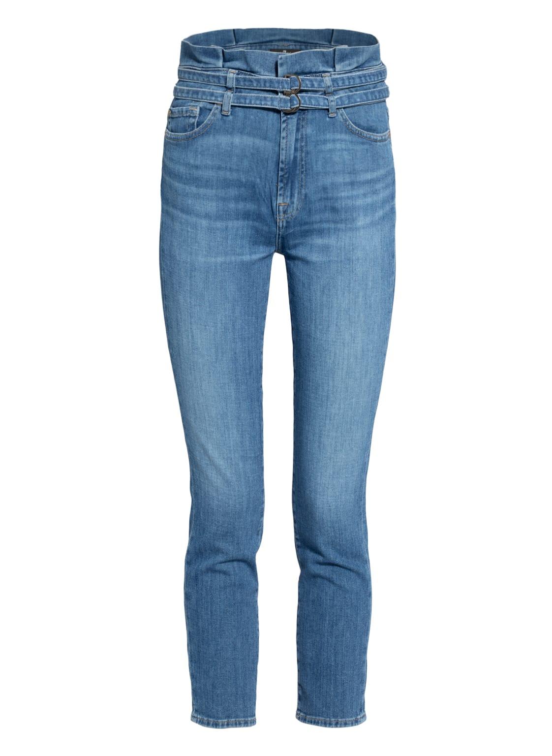 Image of 7 For All Mankind 7/8-Jeans Slim Paperbag blau