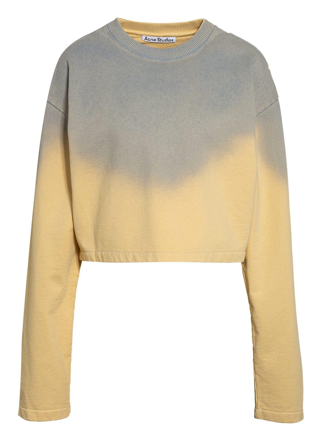 Image of Acne Studios Cropped-Sweatshirt gelb