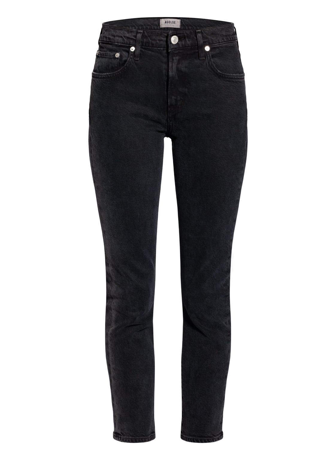 Image of Agolde 7/8-Jeans Toni schwarz