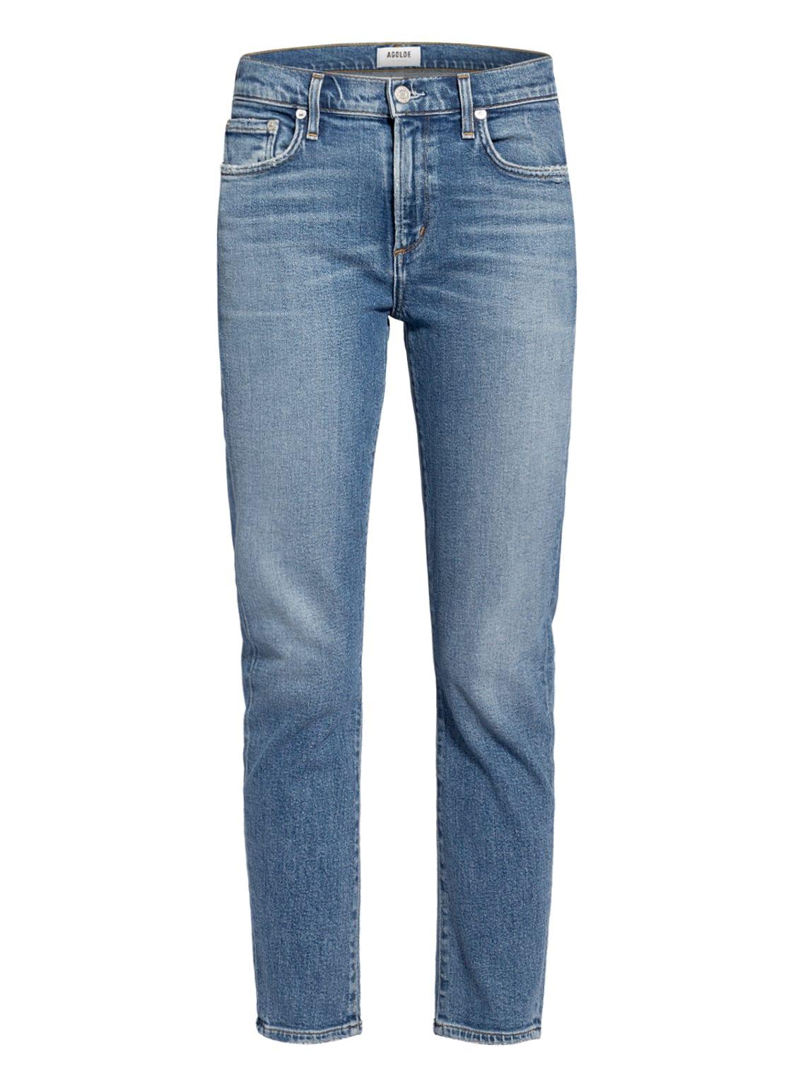 Image of Agolde 7/8-Jeans Toni blau
