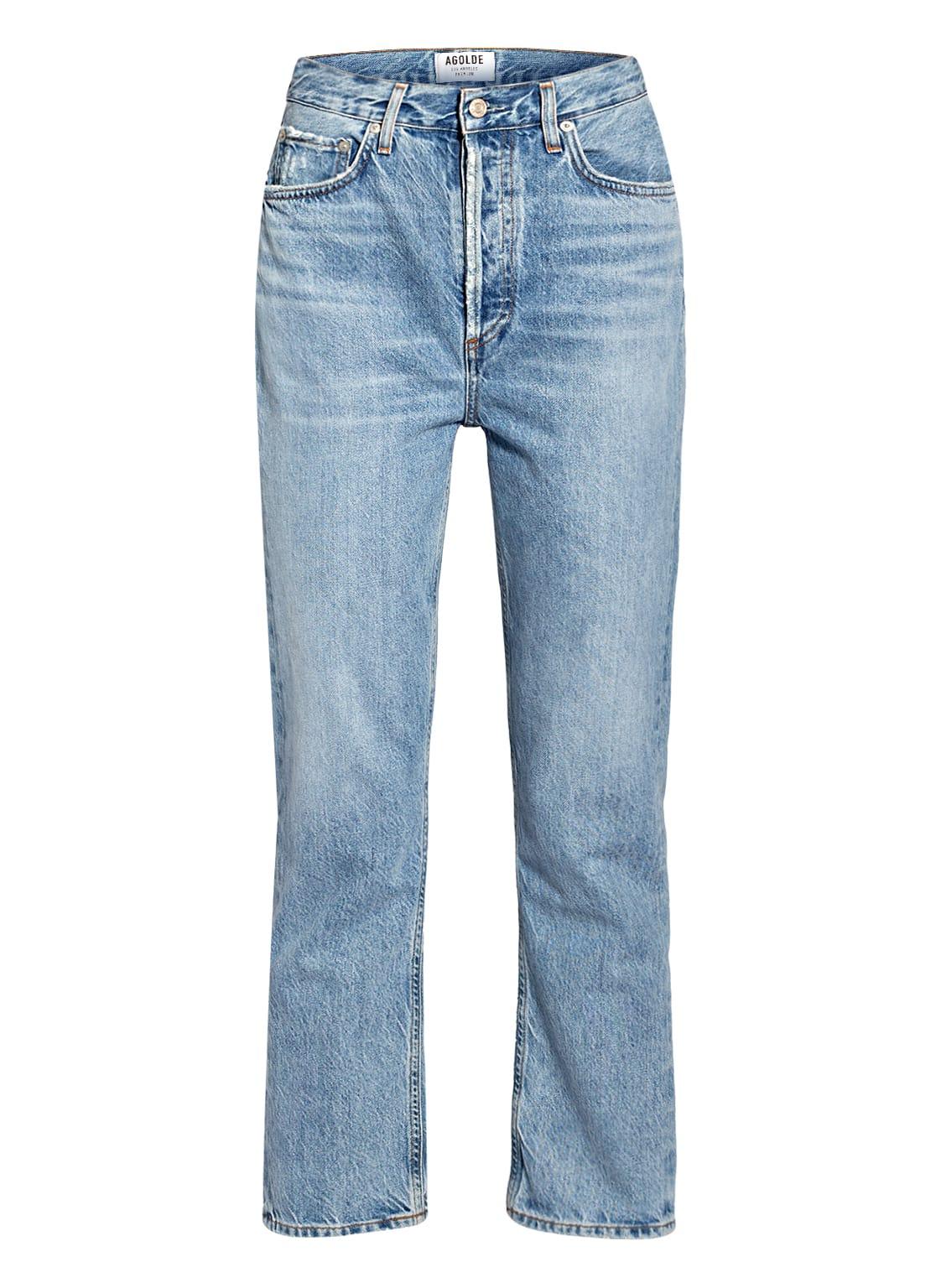 Image of Agolde 7/8-Jeans Riley blau