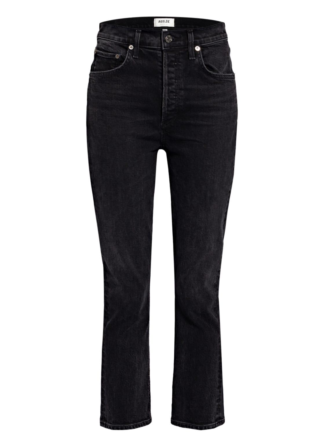 Image of Agolde 7/8-Jeans Riley schwarz