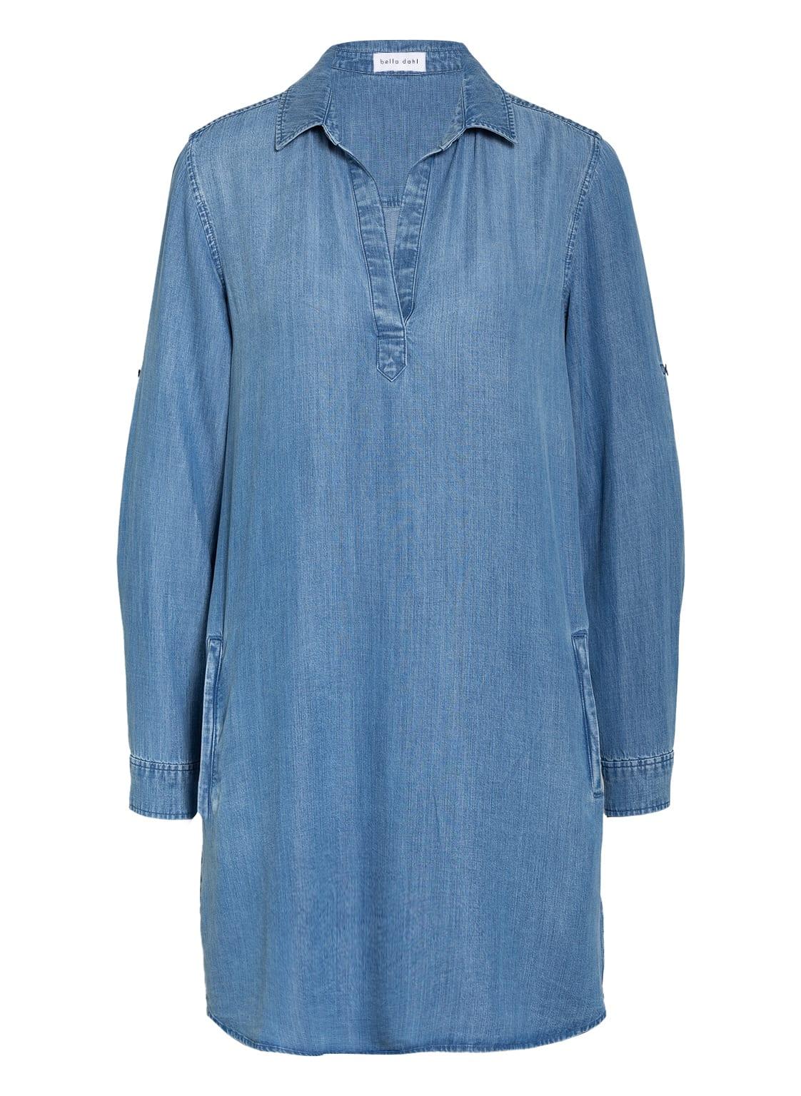 Image of Bella Dahl Kleid In Jeansoptik blau
