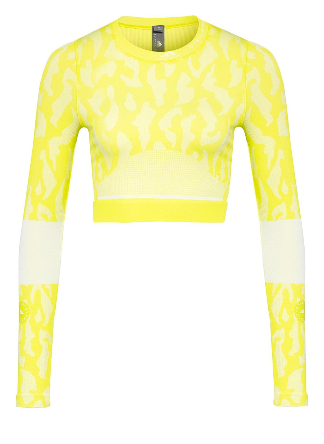 Image of Adidas By Stella Mccartney Cropped-Longsleeve Truepurpose gelb