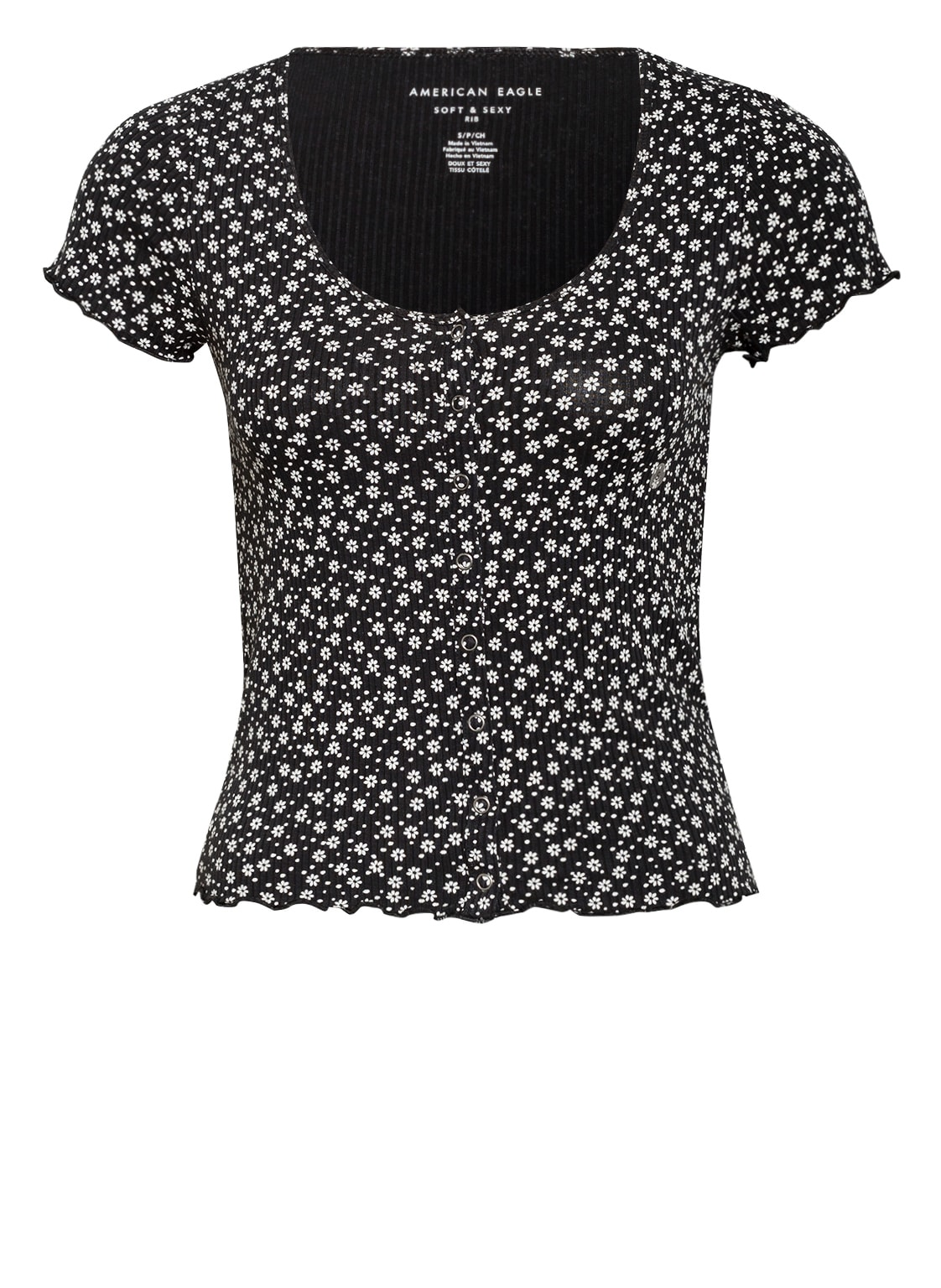 Image of American Eagle Cropped-Shirt schwarz
