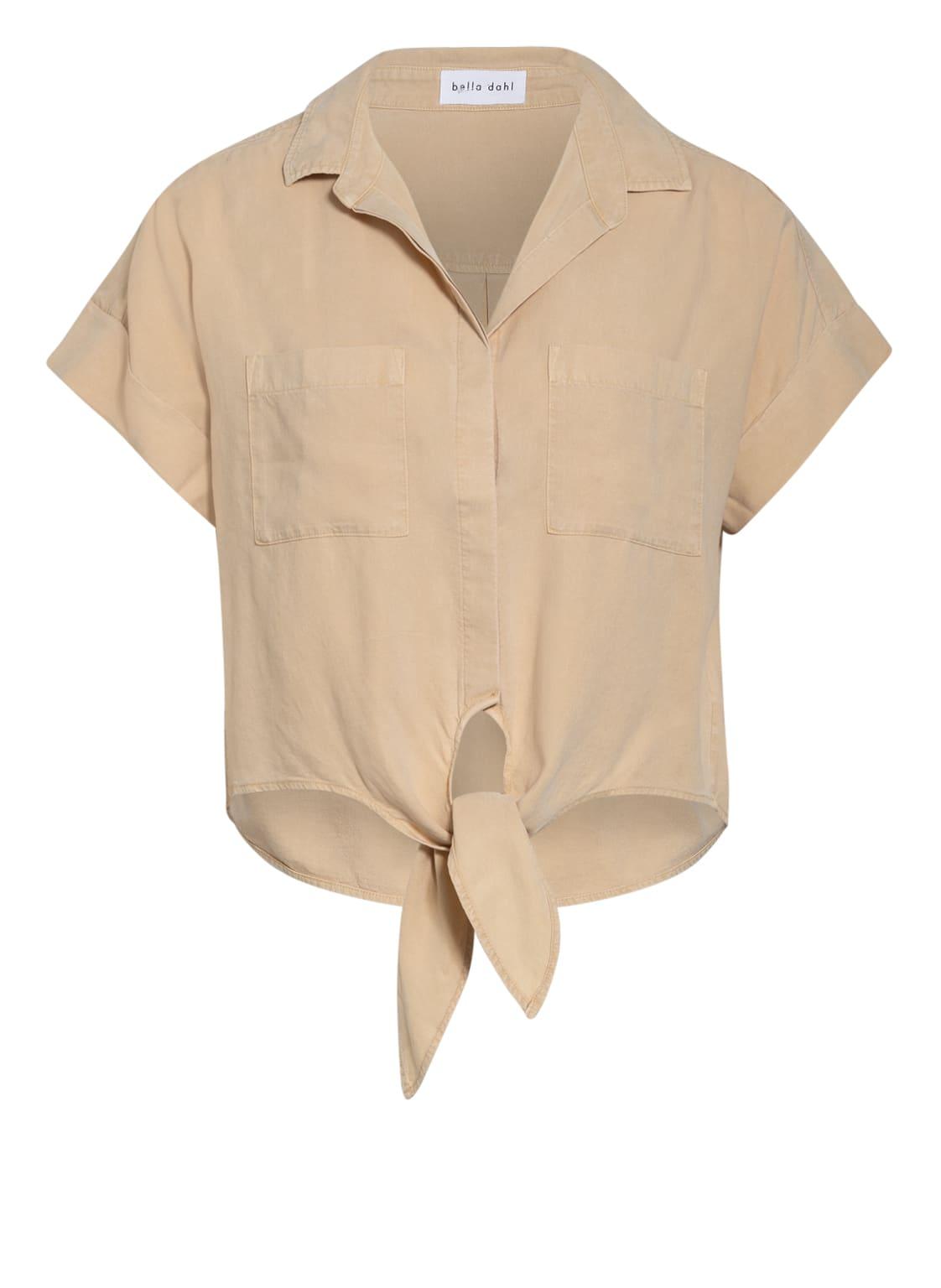 Image of Bella Dahl Cropped-Hemdbluse beige
