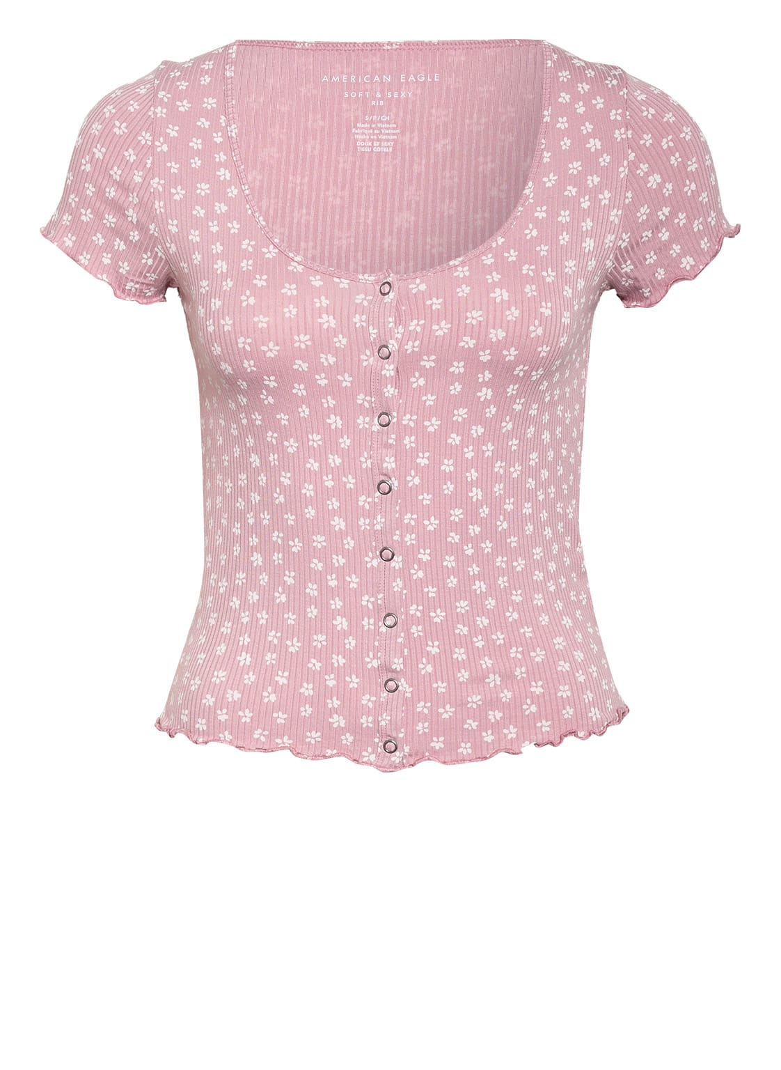Image of American Eagle Cropped-Shirt rosa