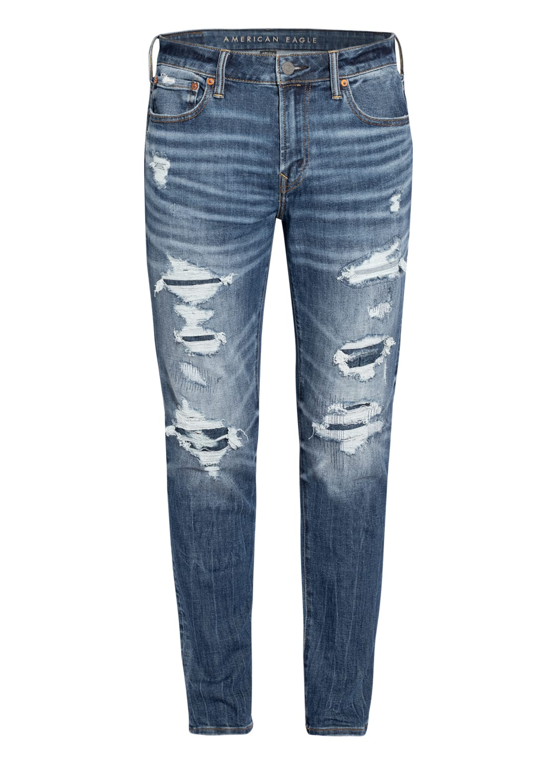 Image of American Eagle Destroyed Jeans Airflex+ Athletic Skinny Fit blau