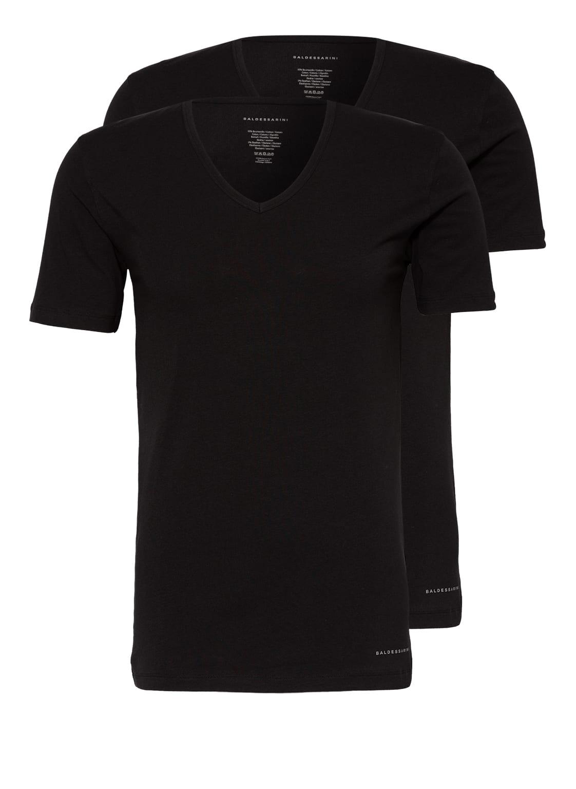 Image of Baldessarini 2er-Pack V-Shirts schwarz