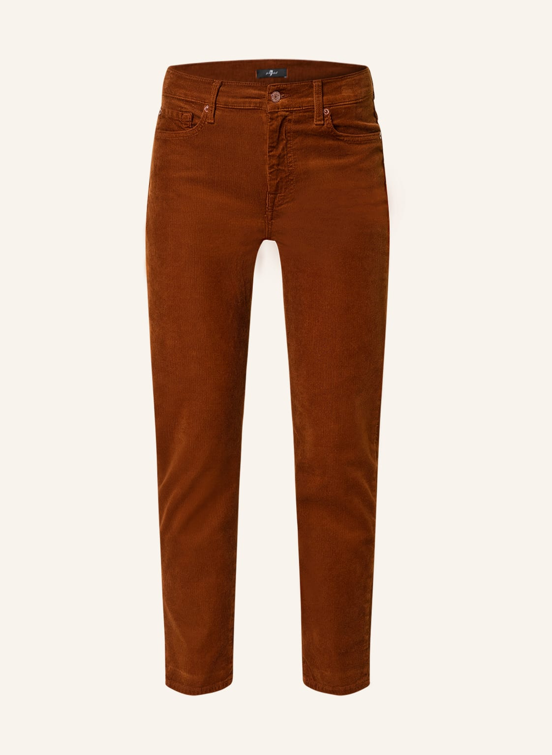 Image of 7 For All Mankind 7/8-Cordhose The Straight Crop braun