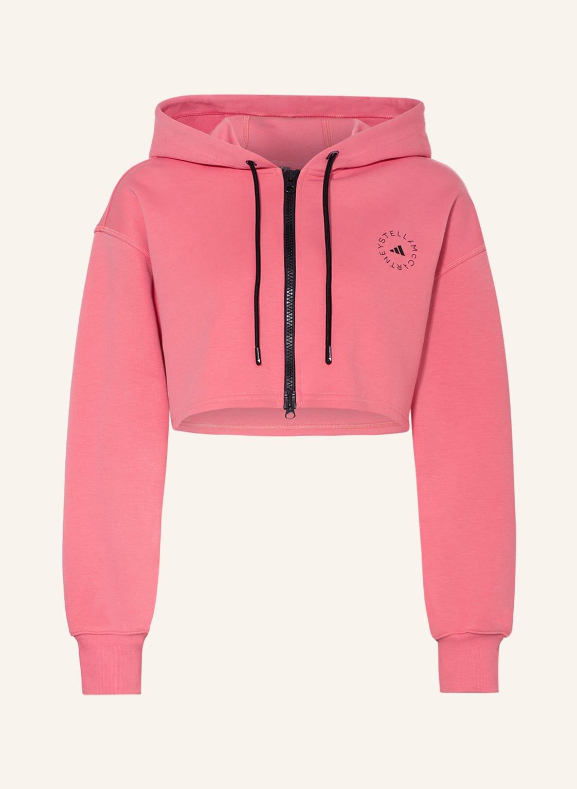 Image of Adidas By Stella Mccartney Cropped-Sweatjacke rosa