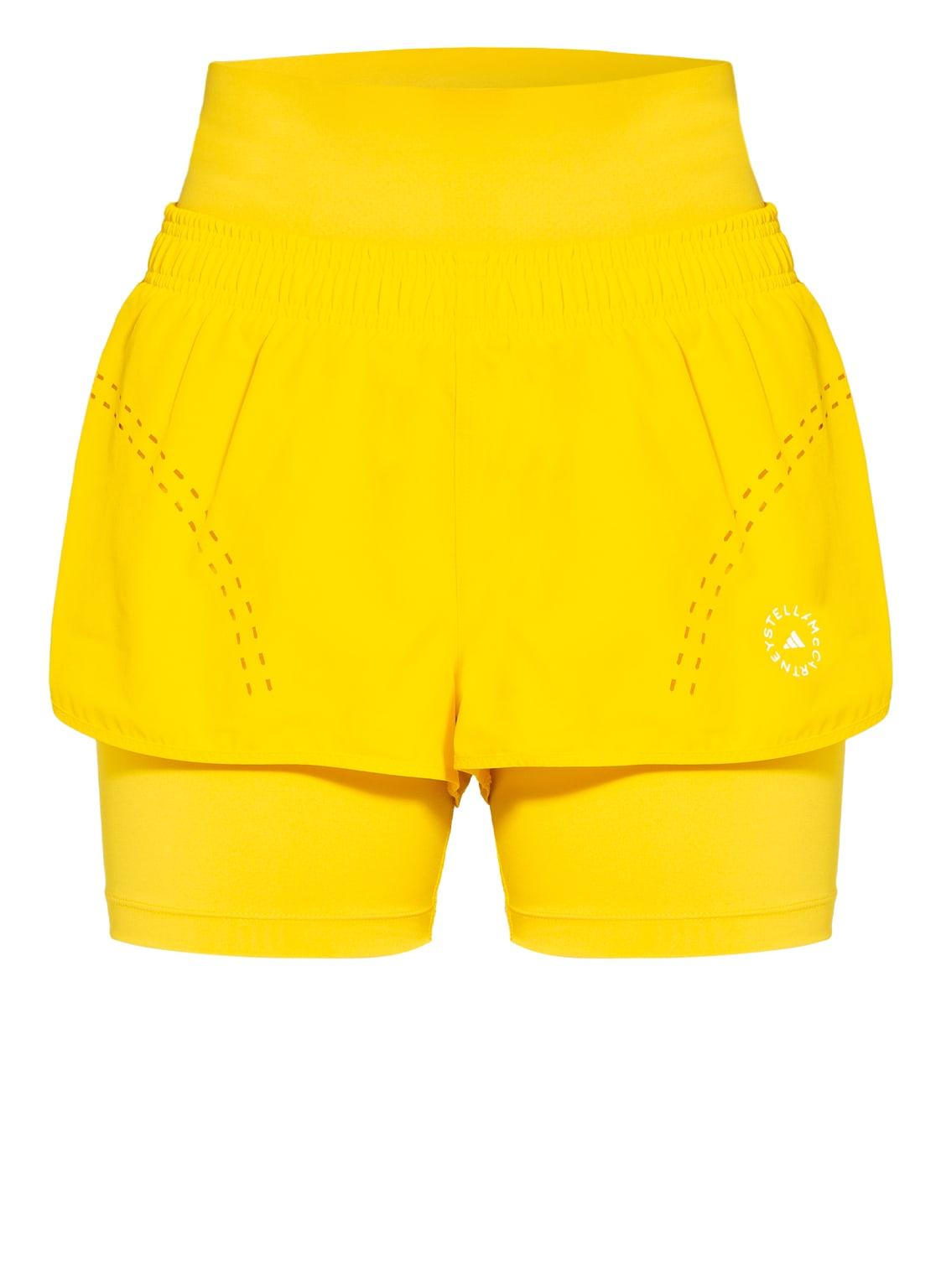 Image of Adidas By Stella Mccartney 2-In-1-Fitnessshorts Truepurpose gelb