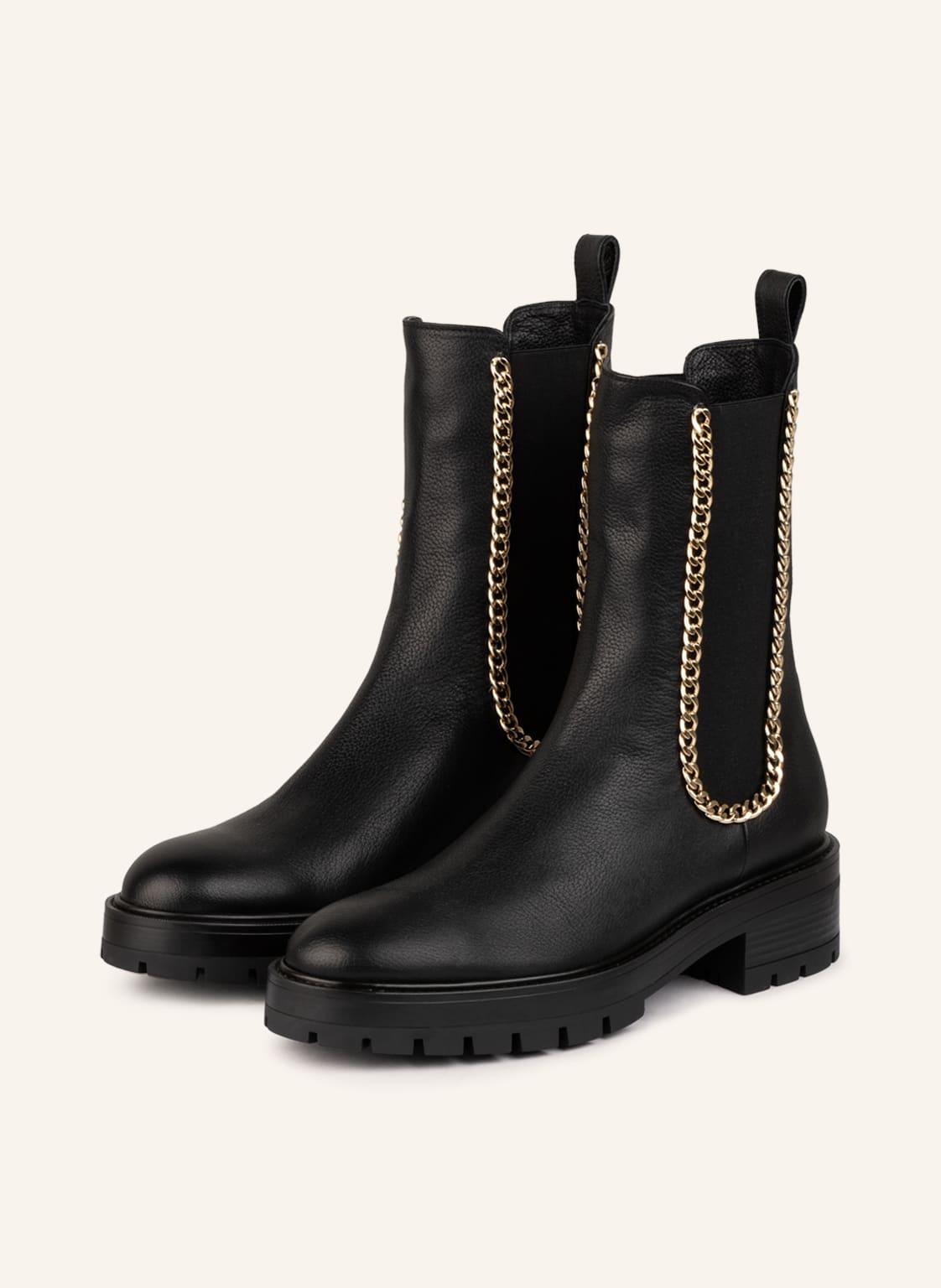 Image of Aquazzura Chelsea-Boots Mason schwarz