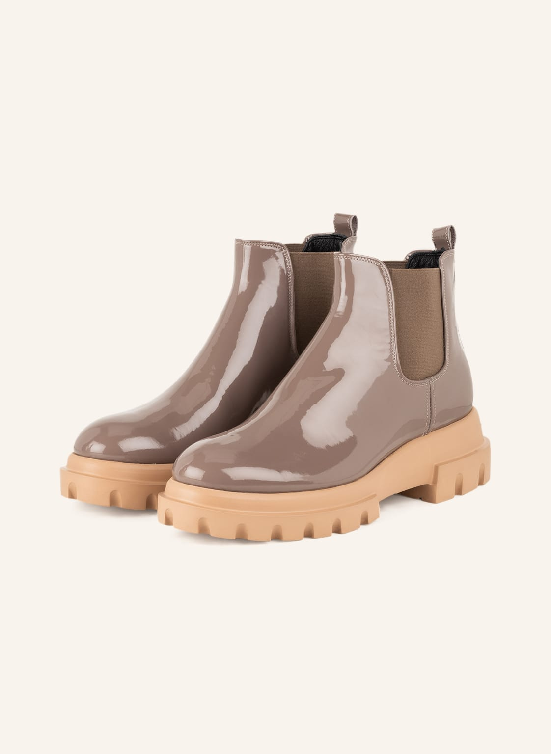 Image of Agl Chelsea-Boots Maxine beige