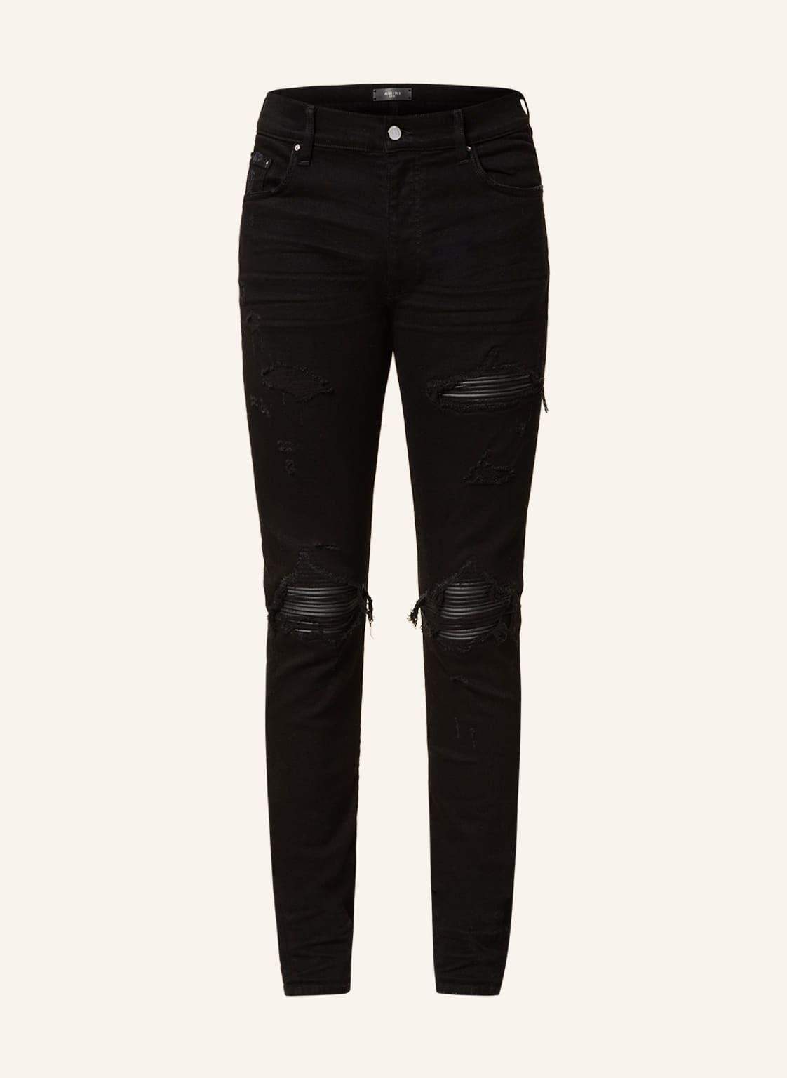 Image of Amiri Destroyed Jeans mx1 Skinny Fit schwarz
