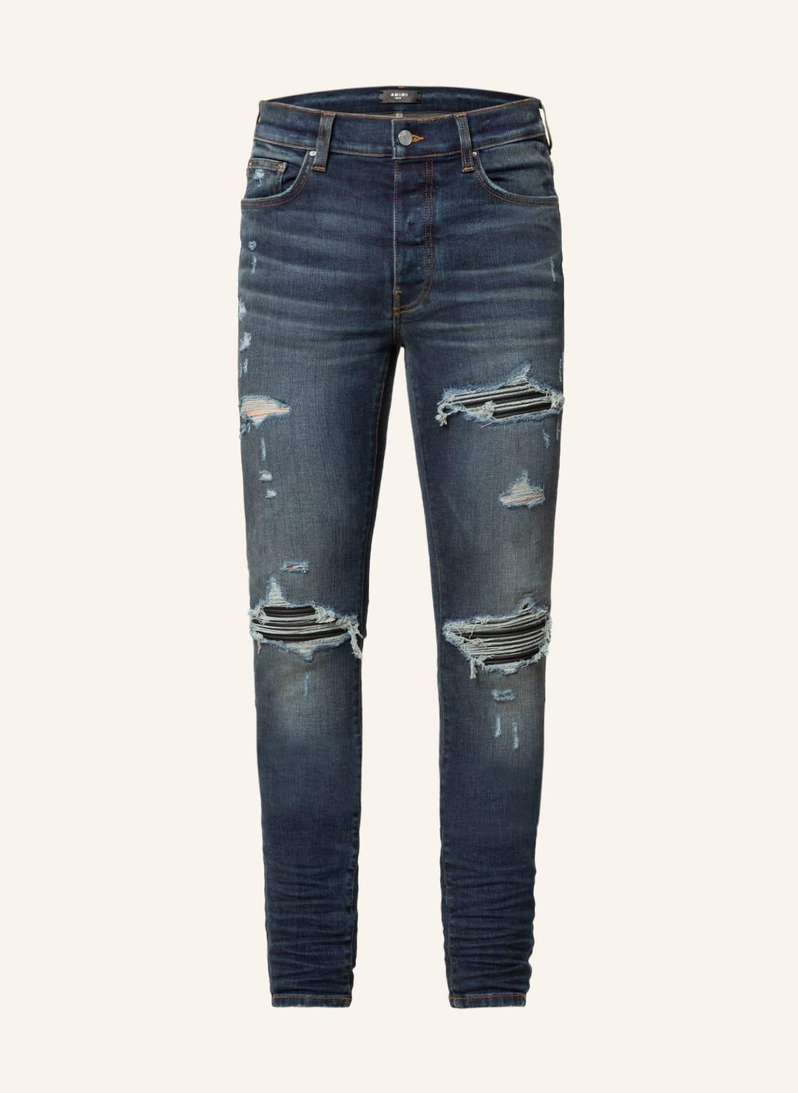 Image of Amiri Destroyed Jeans mx1 Skinny Fit blau