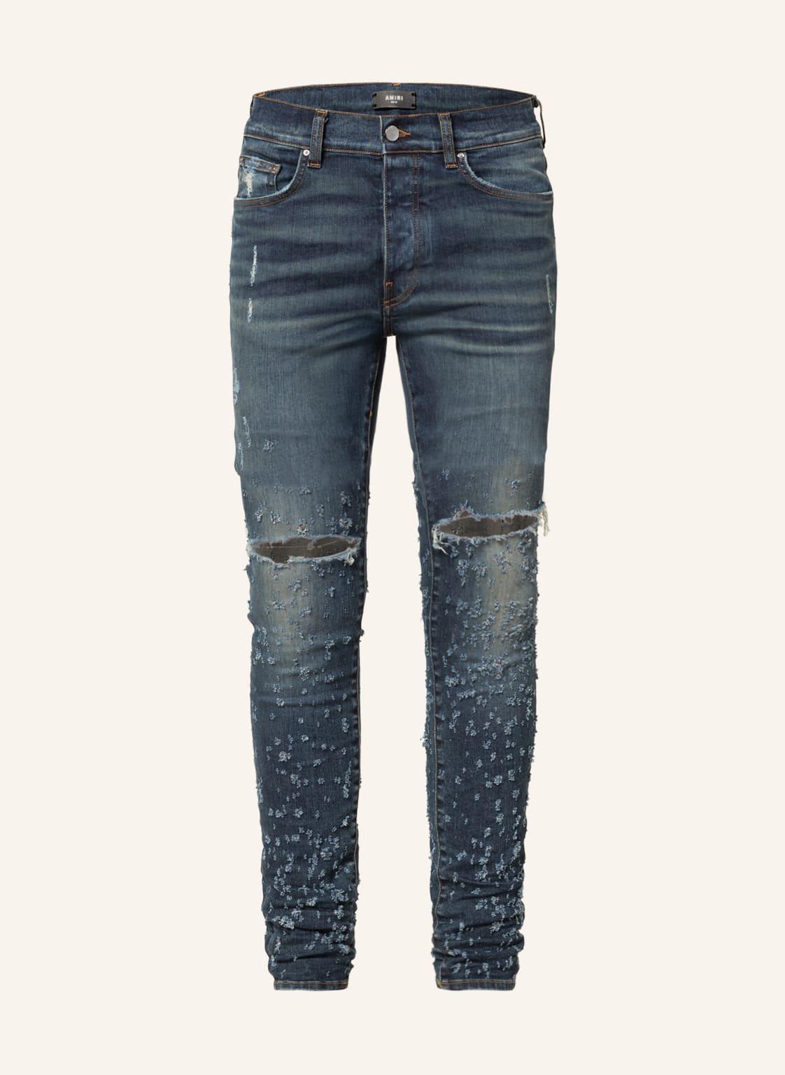 Image of Amiri Destroyed Jeans Shotgun Skinny Fit blau