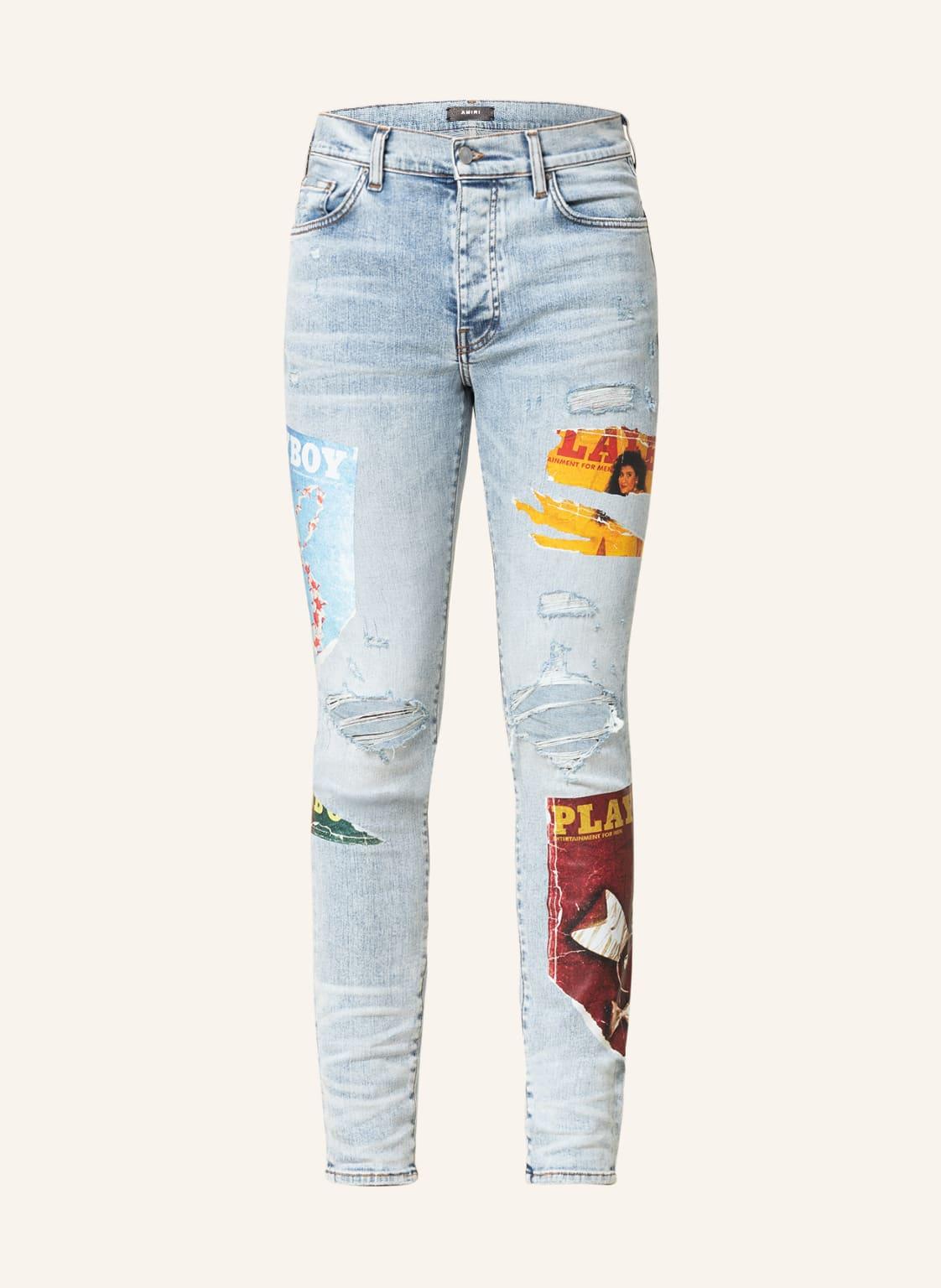 Image of Amiri Destroyed Jeans Skinny Fit blau