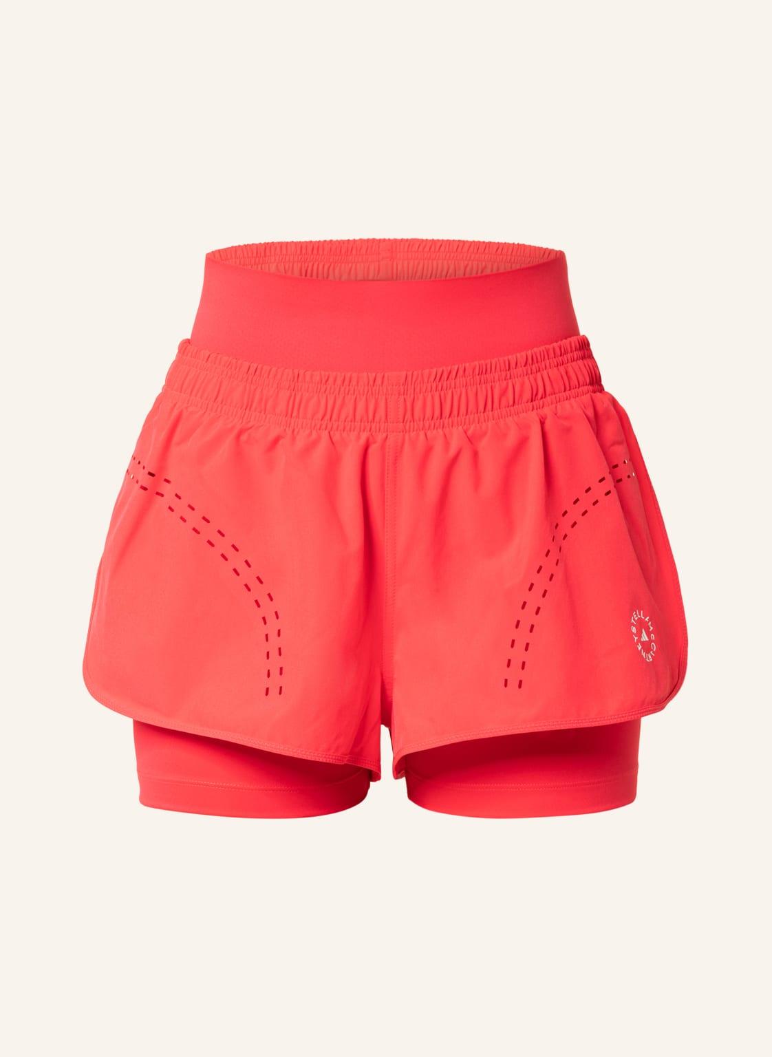 Image of Adidas By Stella Mccartney 2-In-1-Fitnessshorts Truepurpose High Intensity pink