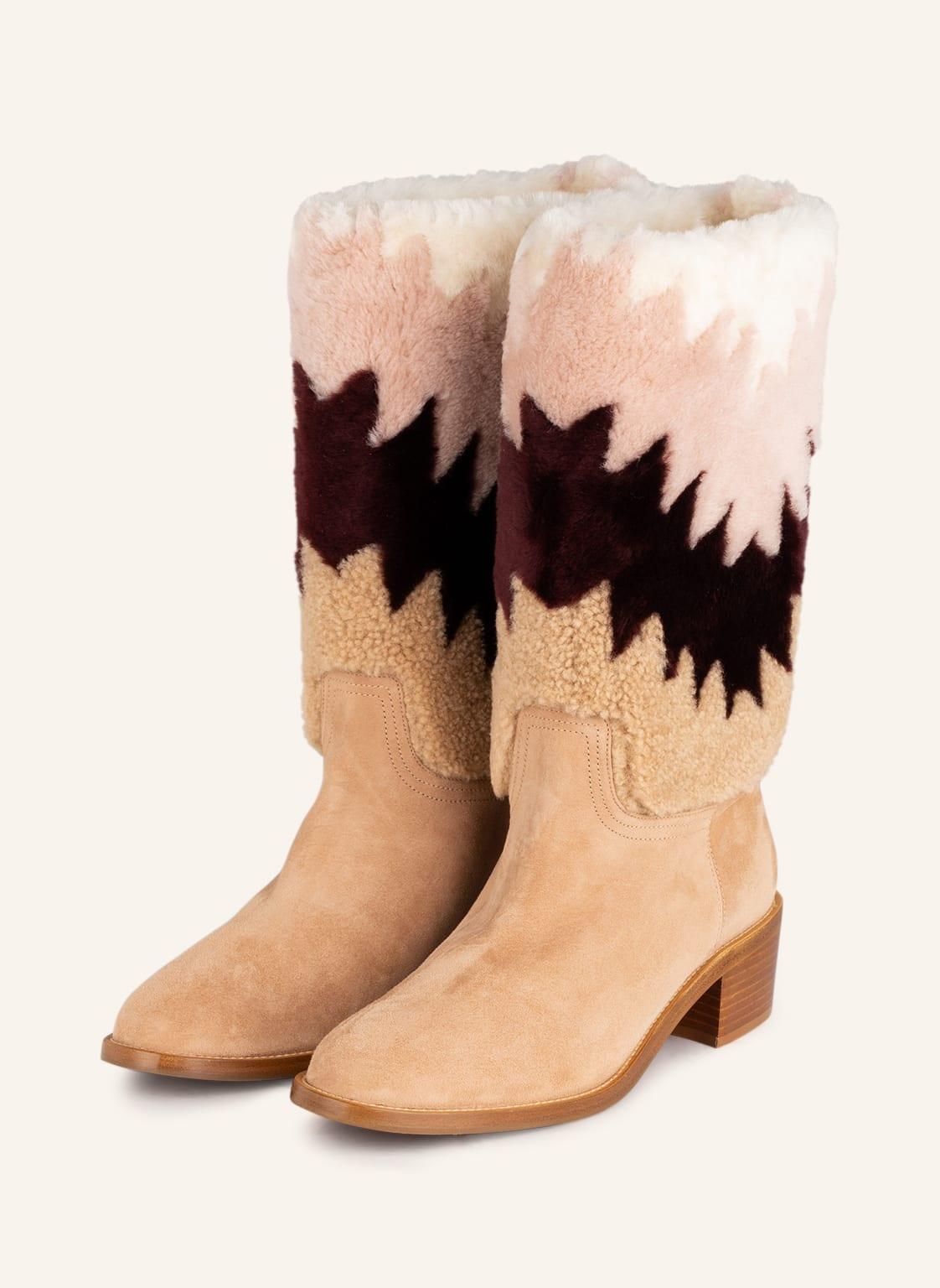 Image of Aquazzura Boots Nomade beige