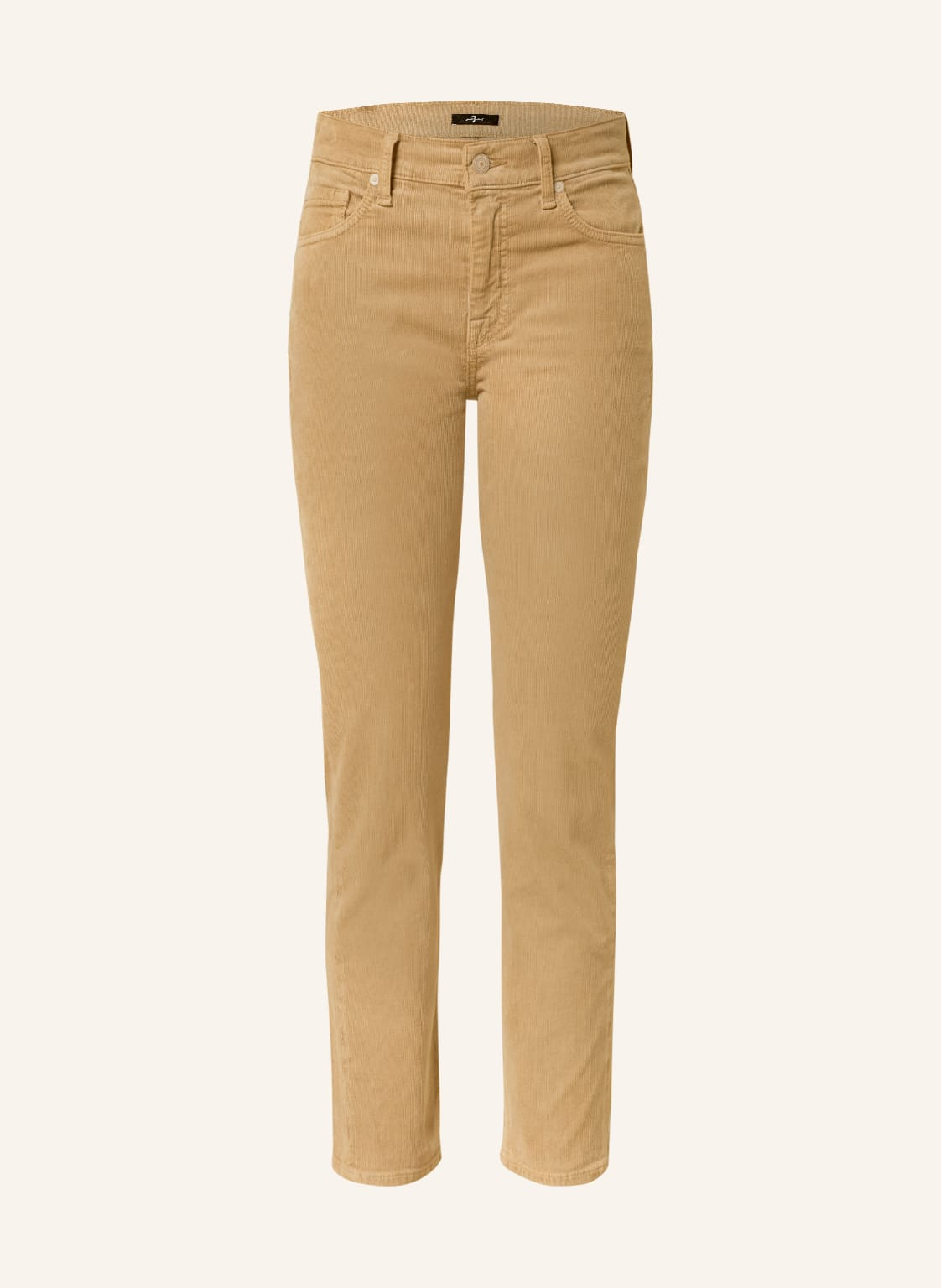 Image of 7 For All Mankind 7/8-Cordhose The Straight Crop beige